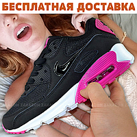 Мужские кроссовки Nike Air Max 90 (Black/Черные)