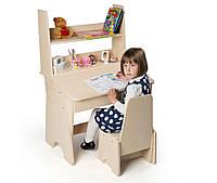 """Письменный стол - растишка """"От 3 до 15"""" для первоклассника с защитной фотопечатью (комплект стол+стул) ТМ Вальтер Венге"""