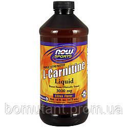 L-Carnitine Liquid 3000 mg 473 ml citrus NOW