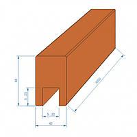Перила термососна вертикаль – в длине 3м