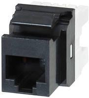 Розеточный модуль Molex KM 1xRJ45 (WE8W) UTP 568A/B PowerCat 5e Black