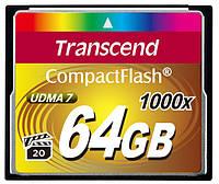 Карта памяти Transcend Compact Flash 64 GB (1000X)