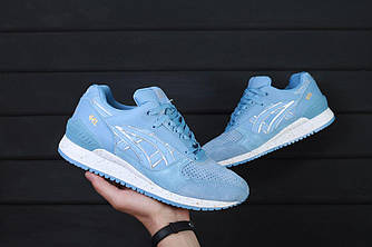 Женские кроссовки Asics Gel Respector (Асикс Гель) голубые