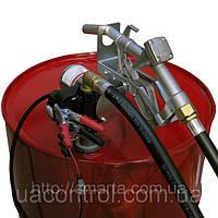 Бочковой насос для заправки и перекачки дизельного топлива PTP 24В, 40 л/мин, фото 1