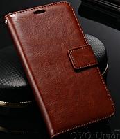 Кожаный чехол для Lenovo S660 коричневый