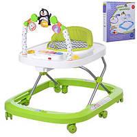 Детские ходунки M 3484-5 цвет зеленый