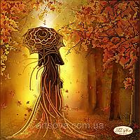 """Схема для вышивки бисером """"Девушка Осень"""""""
