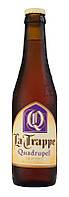 Пиво La Trappe Quadrupel янтарное нефильтрованное*0.33л