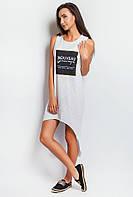 Платье женское удлиненное сзади, спортивное AG-0003701 Белый