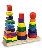 Деревянная Игрушка Геометрическая пирамидка Melissa&Doug