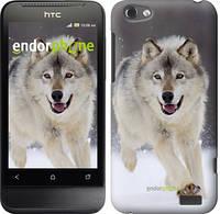 "Чехол на HTC One V t320e Бегущий волк ""826u-227-716"""