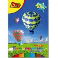 Набор цветной бумаги А4 для творчества 14листов ,7 цветов