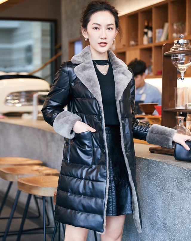 Женская кожаная куртка с мехом. Натуральная кожа. Модель 6380. 814bf5c386a67