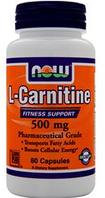L-карнитин NOW Foods L-Carnitine (500mg) 60 caps