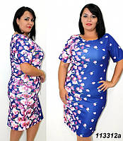 Платья трикотажные летние 58-64 размер(ЦВЕТА)