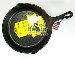 Сковорода чугунная (d-22,5 см, h-5 см) с чугунной ручкой Lodge (США) L6SK3