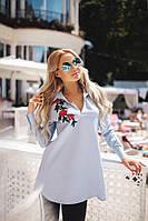 Женская декорированная цветком рубашка