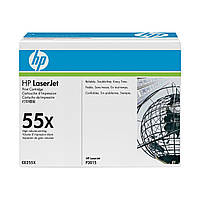 HP CE255X (55X) для HP LJ P3015 series оригинальный увеличенный картридж HP
