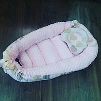 Кокон-  гнездышко + ортопедическая подушка для новорожденных