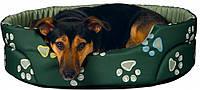 Лежак Trixie Jimmy нейлон и полиэстер с принтом, зеленый, 55х45 см, фото 1
