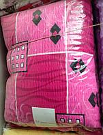 Постельное бельё из жатки розовая абстракция