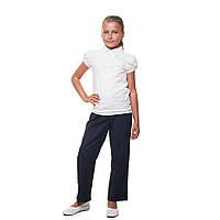 Школьные брюки для девочки синие