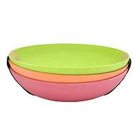 """Набор из 3-х глубоких тарелок 20см из бамбукового волокна  """"Eco"""" Fissman (PT-7158.20)"""