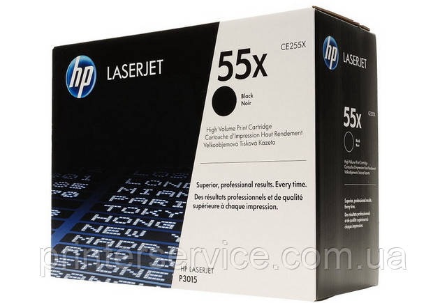 Картридж CE255X (55X) для принтеров HP LJ P3015d, LJ P3015dn, LJ P3015x