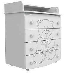 Детский комод-пеленатор Верес декор Мишка