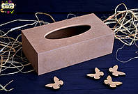 Салфетница-пенал 24 см х 12 см х 7.5 см, МДФ 6 мм., фото 1