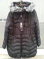 Женская зимняя куртка на овчине,черная Л