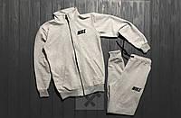 Серый спортивный костюм на молнии Найк Nike