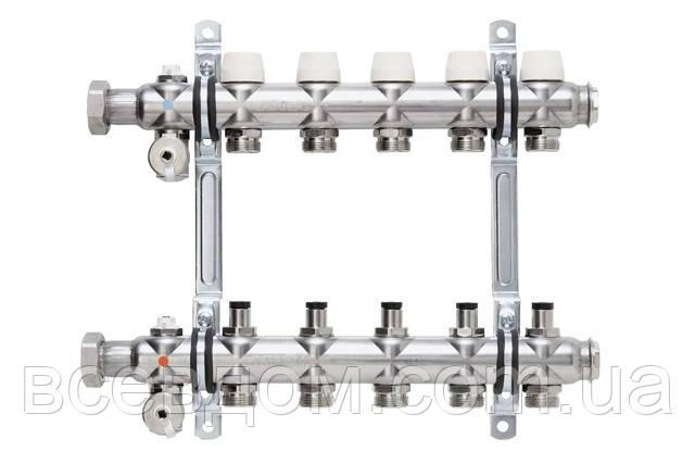 Колектор Kermi x-net FX-7 для теплої підлоги без витратомірів на 7 виходів