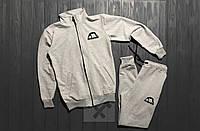 Серый спортивный костюм Манто Manto на молнии (РЕПЛИКА)