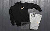 Манто Manto Костюм для парня спортивный на молнии черный с серым