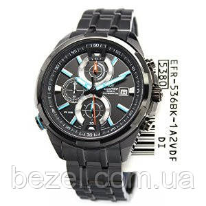 Мужские часы Casio Edifice EFR-536BK-1A2  Касио японские кварцевые
