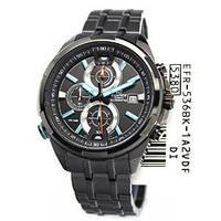 Мужские часы Casio Edifice EFR-536BK-1A2  Касио японские кварцевые, фото 1