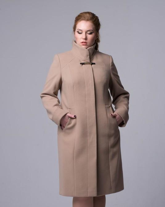 ab501015810 Пальто длинное воротник стойка - Интернет-магазин
