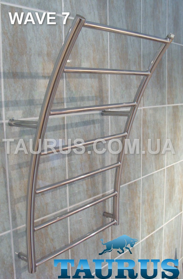 Сушилка Wave 7/ 450 мм в форме морской волны для ванной комнаты. н/ж. 1/2. Украина