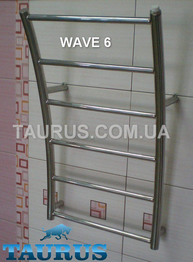 Оригинальный Полотенцесушитель Wave 6/400 из нержавеющей стали