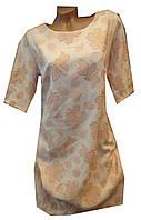 Платье женское 604 принт цветы батал (деми)