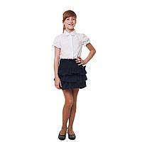 Школьная юбка для девочки синяя