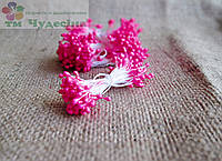 Тычинки Китайские,розовые,глянцевые,длинные ,на белой нити