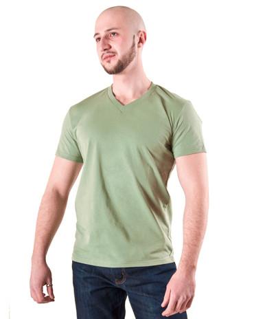 Мужская футболка фисташка мыс ФМ-39