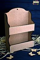 Полка декоративная, МДФ, 20х8,5х30 см