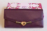 Кошелек женский кожаный  цвет Фиолетовый Love