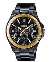 Мужские часы Casio MTD-1075BK-1A9  Касио японские кварцевые