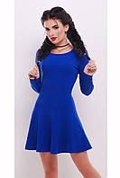 Платье приталенного силуэта с воланом «Стейли»