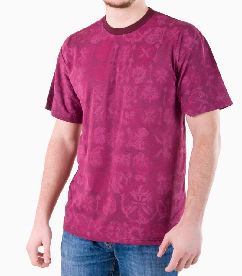 Мужская футболка бордо