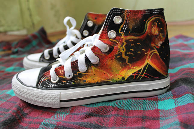 Кеды Converse All Star Replica Flash Lisa Deco, фото 2
